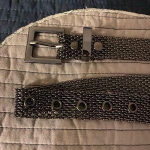 Silver belt metal
